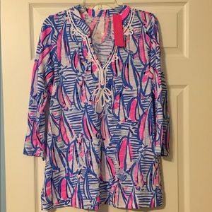 NWT Lilly Pulitzer Kaia Tunic Red Right Return M